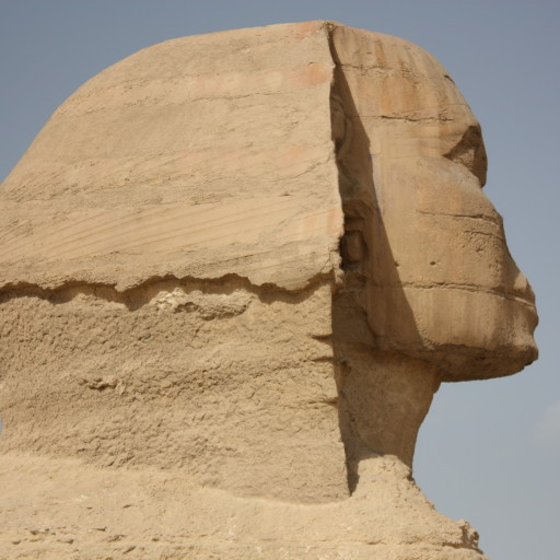 why are the noses missing from Egyptian statues. The sphinx at Giza