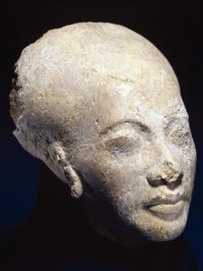 Egyptian head of Nefertiti or a royal princess from a statue