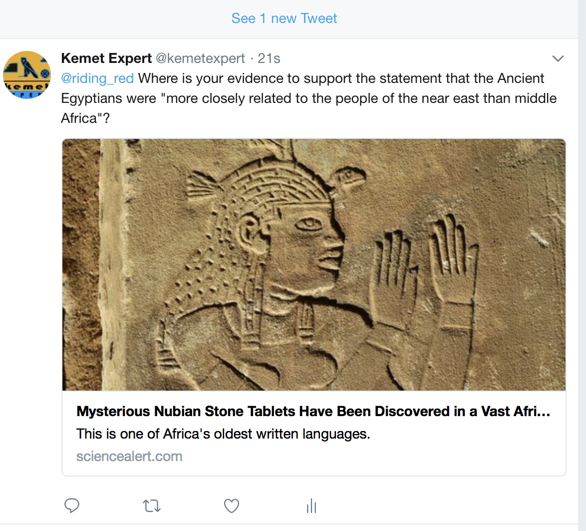 """Science"" Alert claim that Ancient Egypt is non-African"